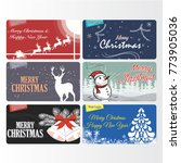 group of christmas and new year ... | Shutterstock .eps vector #773905036