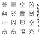 thin line icon set   server ... | Shutterstock .eps vector #773907985