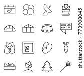 thin line icon set   calendar ... | Shutterstock .eps vector #773908045