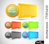 vector colorful stickers with... | Shutterstock .eps vector #77391610