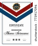 certificate template luxury and ... | Shutterstock .eps vector #773917096