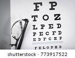 poor eyesight. cracked glasses... | Shutterstock . vector #773917522