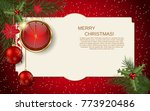 merry christmas and happy new... | Shutterstock .eps vector #773920486