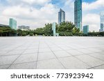 empty floor with modern... | Shutterstock . vector #773923942