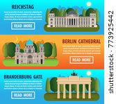travel to germany banner... | Shutterstock .eps vector #773925442