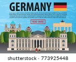 travel to germany banner... | Shutterstock .eps vector #773925448