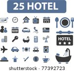 25 hotel icons  signs  vector...