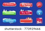 set of winter theme glossy web...   Shutterstock .eps vector #773929666