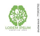 green brain tree logo design....   Shutterstock .eps vector #773929702