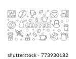coffee vector horizontal... | Shutterstock .eps vector #773930182