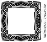 abstract vector black and white ...   Shutterstock .eps vector #773934802