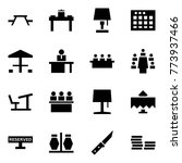 origami style icon set   picnic ... | Shutterstock .eps vector #773937466