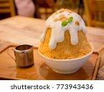 thai milk tea ice bingsu... | Shutterstock . vector #773943436