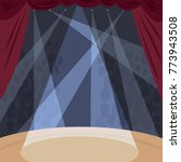 view from stage with spotlight... | Shutterstock .eps vector #773943508