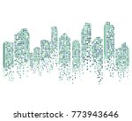 modern city skyline vector... | Shutterstock .eps vector #773943646