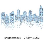 modern city skyline vector... | Shutterstock .eps vector #773943652