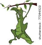 stock photo  lizard on a tree...   Shutterstock .eps vector #77394523