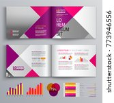 pink business brochure template ... | Shutterstock .eps vector #773946556