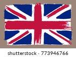 grunge uk flag.vintage british... | Shutterstock .eps vector #773946766
