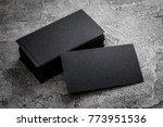 black paper business card... | Shutterstock . vector #773951536