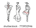 fashion sketch design with