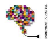 artificial intelligence concept ... | Shutterstock .eps vector #773953156