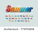 vector of modern vibrant font... | Shutterstock .eps vector #773953858