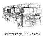 school bus outline vector.... | Shutterstock .eps vector #773955262