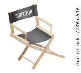 director empty chair isolated... | Shutterstock .eps vector #773955916