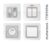 set of electric power switches...   Shutterstock .eps vector #773955946