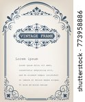 vintage frame with beautiful... | Shutterstock .eps vector #773958886