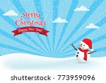 christmas greeting card with... | Shutterstock .eps vector #773959096