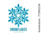 snowflake templates on white... | Shutterstock . vector #773962156