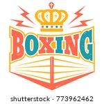 vector vintage logo for a... | Shutterstock .eps vector #773962462