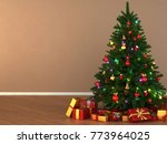 3d rendering decorated... | Shutterstock . vector #773964025
