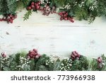 christmas new year composition... | Shutterstock . vector #773966938