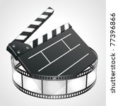 film clap board cinema strip... | Shutterstock .eps vector #77396866