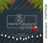 merry christmas lettering card... | Shutterstock .eps vector #773979658
