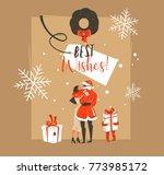 hand drawn vector abstract fun... | Shutterstock .eps vector #773985172