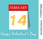 happy valentines day calendar... | Shutterstock .eps vector #773987086