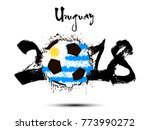 abstract number 2018 and soccer ... | Shutterstock .eps vector #773990272