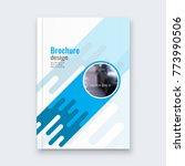 abstract flyer design... | Shutterstock .eps vector #773990506