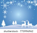 winter card with standing... | Shutterstock .eps vector #773996962
