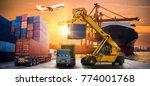 logistics and transportation of ... | Shutterstock . vector #774001768