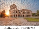colosseum amphitheater in rome | Shutterstock . vector #774002296