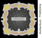 frame old  antique  baroque ... | Shutterstock .eps vector #774002416