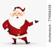 happy merry christmas. cartoon... | Shutterstock . vector #774006328