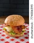 hamburger with beef  onion ... | Shutterstock . vector #774006595