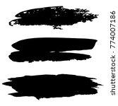 vector black paint  ink brush... | Shutterstock .eps vector #774007186
