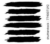 vector black paint  ink brush... | Shutterstock .eps vector #774007192